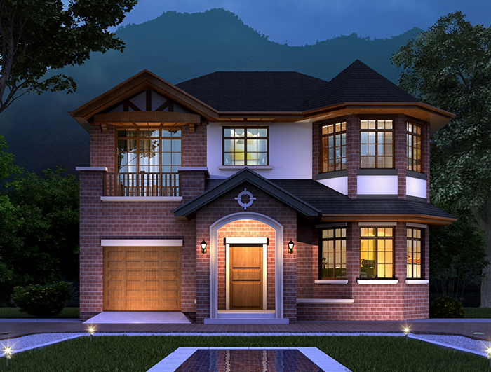 造价20万二层经典欧式别墅设计图纸 NO.242