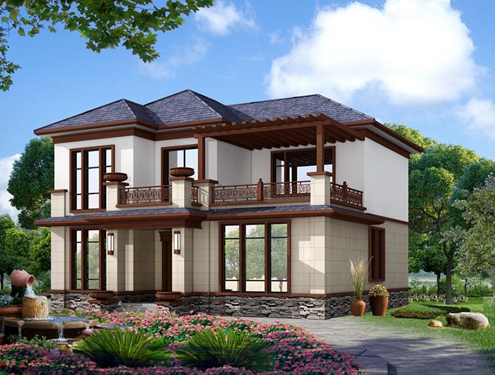 新款农村20万元二层小楼图 NO.288