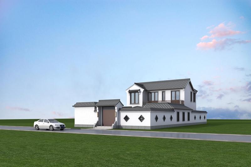 农村四合院设计图纸及效果图大全 景观设计 NO.2552