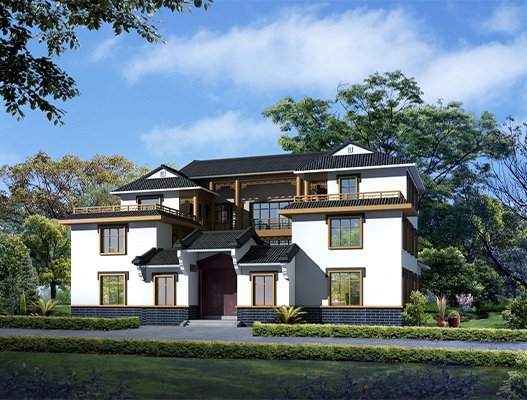 新中式四合院别墅设计图、施工图 造价40万
