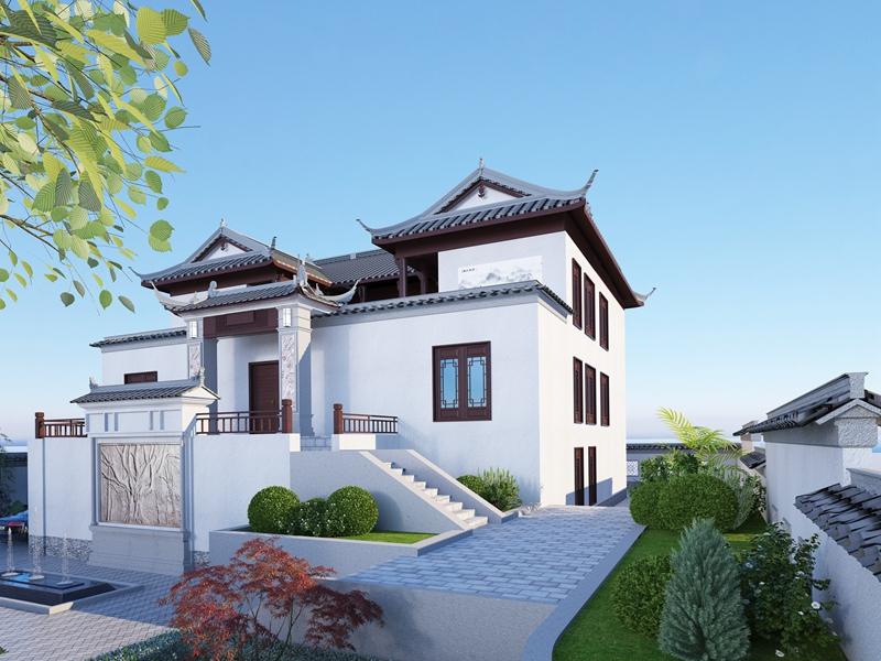 中式四合院别墅设计图纸(含花园布局)