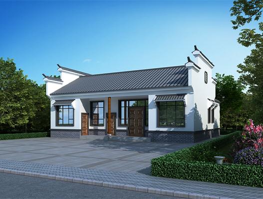 农村一层中式房屋设计效果图 NO.154