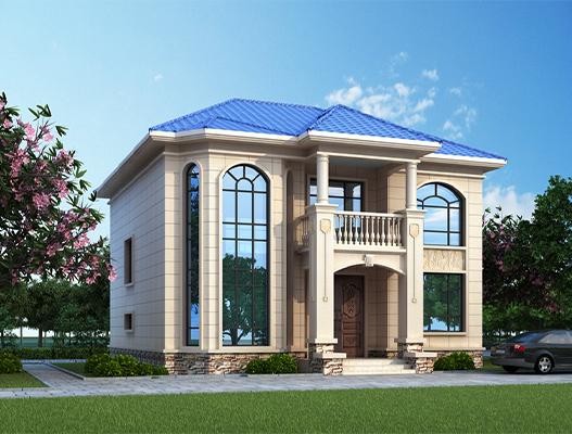 二层农村欧式别墅设计图纸及效果图 NO.2613