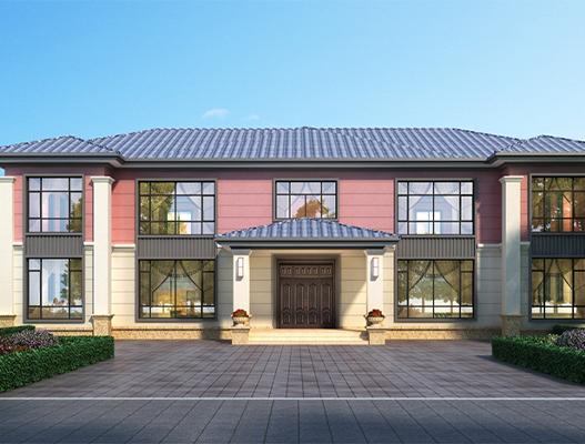 二层欧式小别墅设计方案 设计图纸及效果图 NO.2617