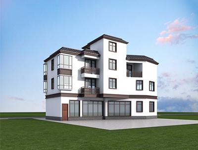 三层房子设计图纸及效果图大全 农村盖房 NO.3623