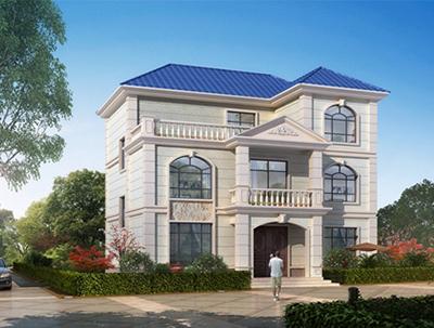 欧式小型二层别墅效果图片,别墅设计图纸 NO.3625