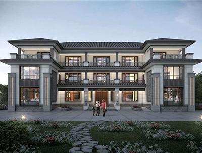 三层新中式房屋建筑设计图纸 漂亮的农村自建房 NO.3618